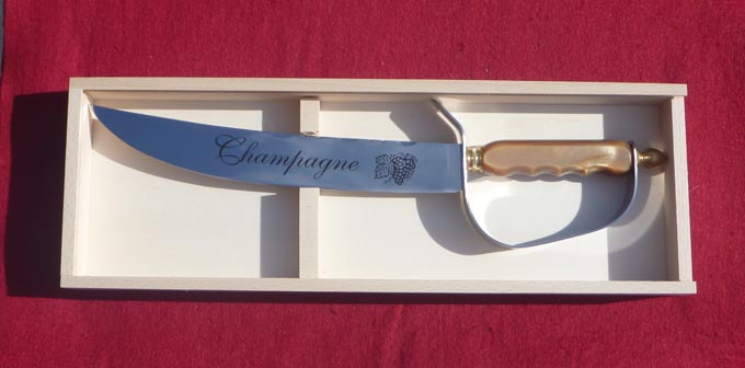 Champagne Sword in optional wood box