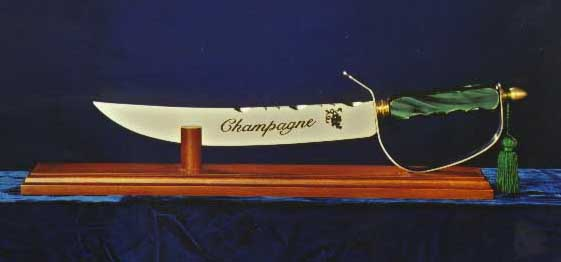 Champagne saber display wood stand